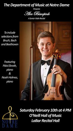 Alec Biscopink 18 Senior Violin Recital