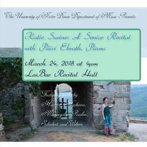 Surine Senior Recital Poster